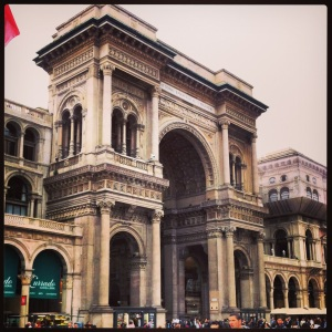 Entrada a la Galleria Vittorio Emanuele